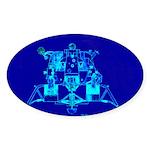 Eagle Apollo Lunar Module Sticker (Oval 50 pk)