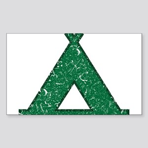 Vintage Camping Style Sticker (Rectangle)