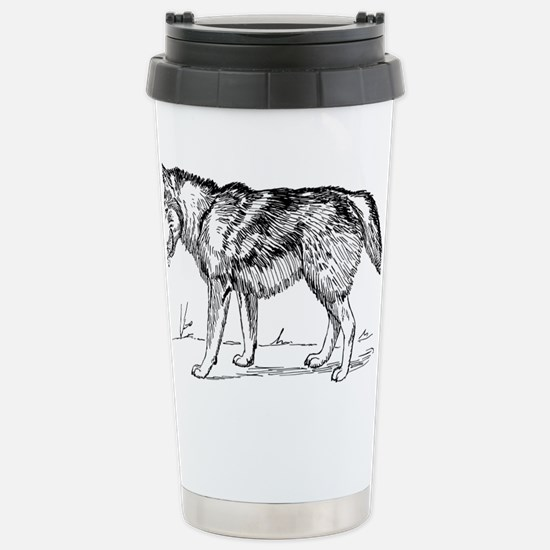 Cute Smiling wolf Travel Mug