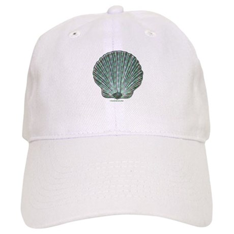 Blue-green Scallop Shell Cap