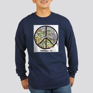 Peace Asheville pick your color Long Sleeve Shirt
