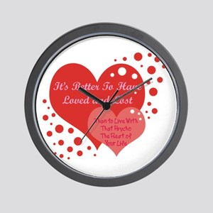Love and Lost Wall Clock