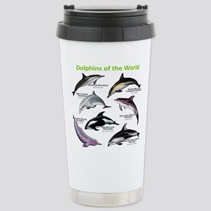 Dolphins of the World Stainless Steel Travel Mug