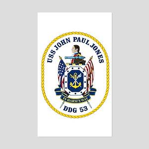 USS John Paul Jones DDG 53 Rectangle Sticker