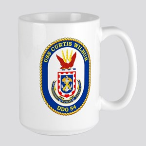 USS Curtis Wilbur DDG 54 Large Mug