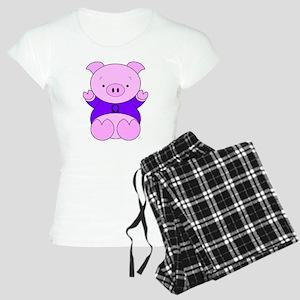 Libra Cartoon Pig Women's Light Pajamas