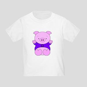 Libra Cartoon Pig Toddler T-Shirt