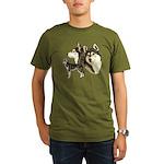 Siberian Husky Organic Men's T-Shirt (dark)