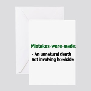 Mistakes were made definition Greeting Card