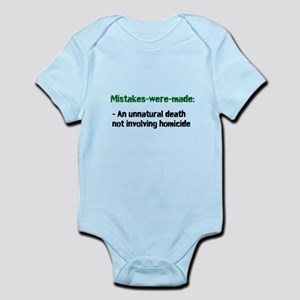 Mistakes were made definition Infant Bodysuit
