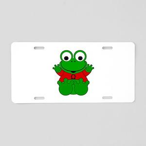Libra Cartoon Frog Aluminum License Plate