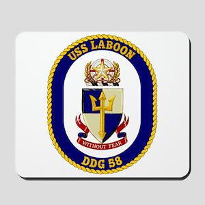 USS Laboon DDG 58 Mousepad