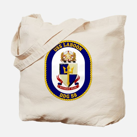 USS Laboon DDG 58 Tote Bag