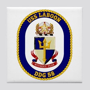 USS Laboon DDG 58 Tile Coaster