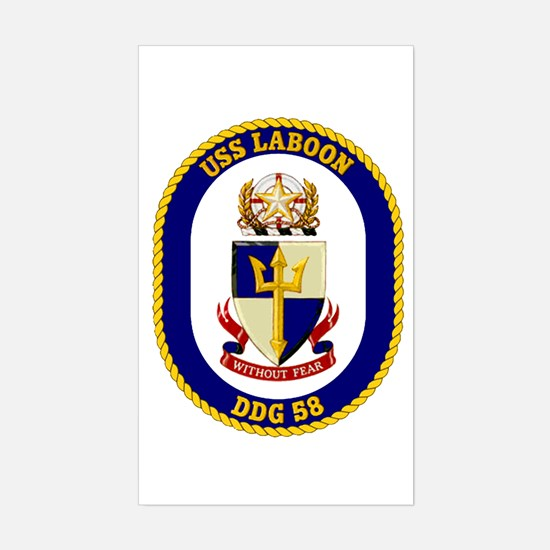 USS Laboon DDG 58 Rectangle Decal