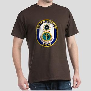 USS Paul Hamilton DDG 60 Black T-Shirt