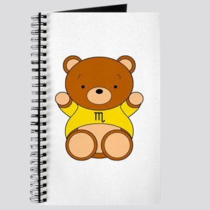 Scorpio Cartoon Bear Journal
