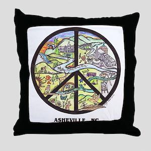Super Groovy Asheville , Nc Peace Art Throw Pillow