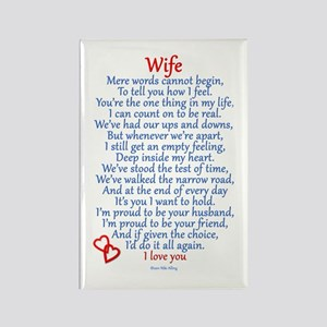 Wife Love Rectangle Magnet