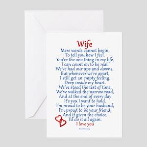 Wife Love Greeting Card