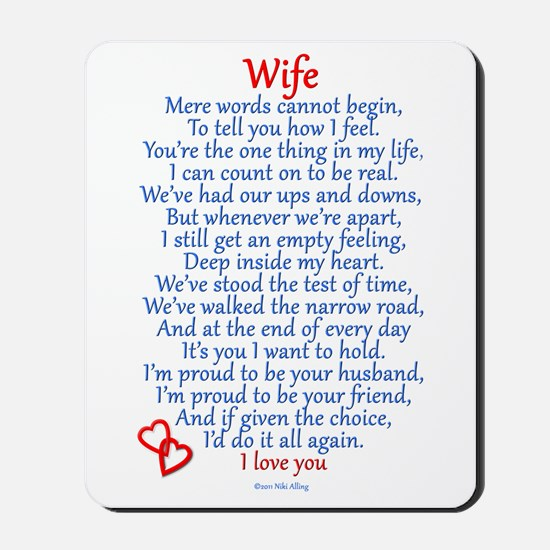 Wife Love Mousepad