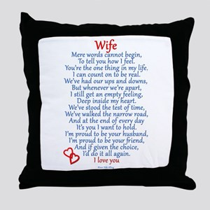 Wife Love Throw Pillow