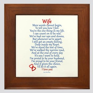 Wife Love Framed Tile