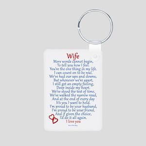 Wife Love Aluminum Photo Keychain
