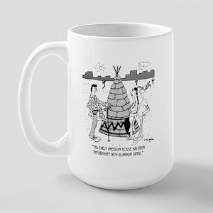 Teepee W/ Aluminum Siding Large Mug