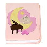 Piano Sleeping Baby Music baby blanket