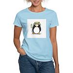 Fishing penguin Women's Pink T-Shirt