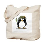 Fishing penguin Tote Bag