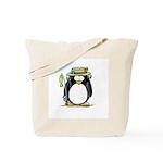 Fishing penguin Tote Bag