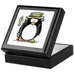 Fishing penguin Keepsake Box
