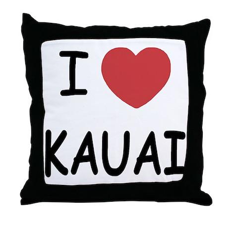 I heart kauai Throw Pillow