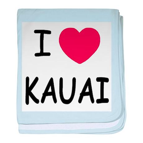 I heart kauai baby blanket