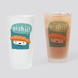"""""""Oishii!"""" Sushi Drinking Glass"""