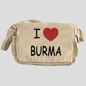 I heart burma Messenger Bag