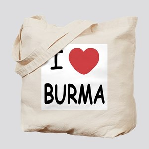 I heart burma Tote Bag