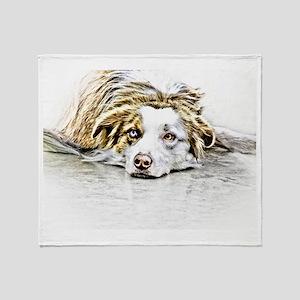 AUSTRALIAN SHEPHERD - DOG Throw Blanket