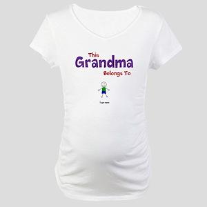 This Grandma Belongs 1 One Maternity T-Shirt