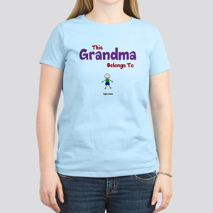 This Grandma Belongs 1 One Women's Light T-Shirt