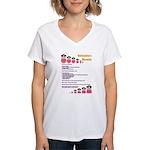 Babushka's Borscht Recipe Women's V-Neck T-Shirt