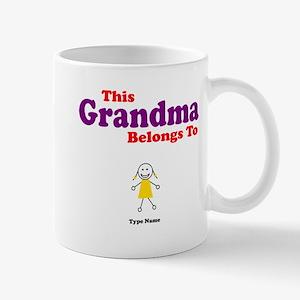This Grandma Belongs Granddau Mug