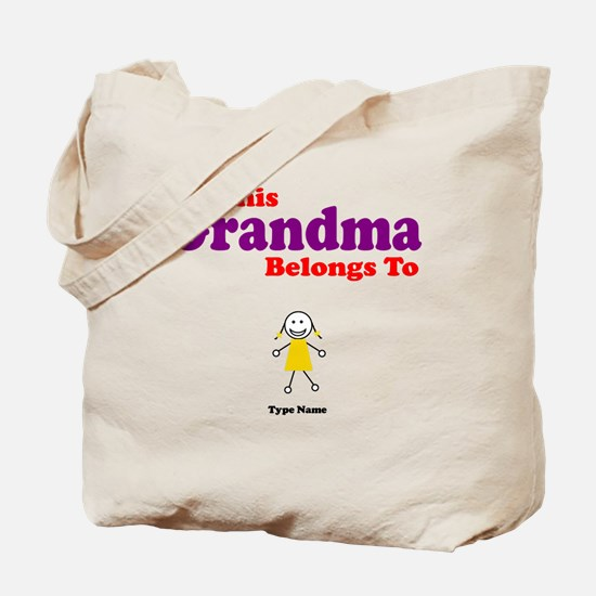 This Grandma Belongs Granddau Tote Bag