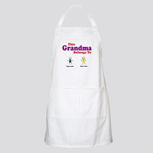 This Grandma Belongs 2 Two Apron