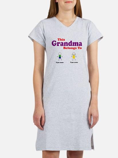 This Grandma Belongs 2 Two Women's Nightshirt