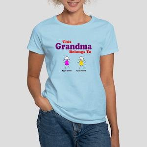 This Grandma Belongs 2 Two Women's Light T-Shirt