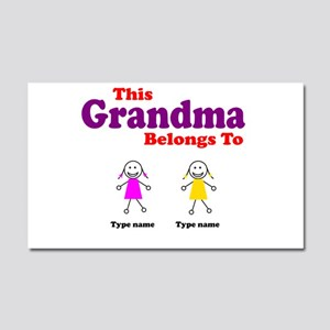 This Grandma Belongs 2 Two Car Magnet 20 x 12