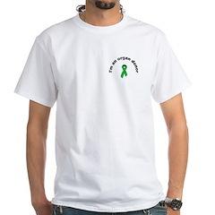 White T-Shirt I'm a donor - ribbon